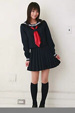 Japanese Japan School Girl long-sleeved Uniform Cosplay Costume New-T027