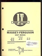 MASSEY-FERGUSON SHOP MANUAL MHF303/ MH333 / MF & MHF404/ MF406 /MH444 MF-10