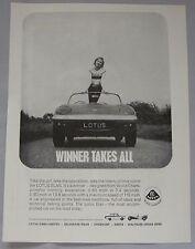 1964 Lotus Elan Original advert No.1