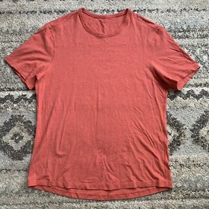 Lululemon Pima Cotton Lycra Salmon SS Shirt L