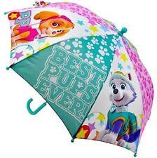 OFFICIAL SKYE PAW PATROL BOYS GIRLS RAIN UMBRELLA KIDS SCHOOL PANEL BROLLY GIFT
