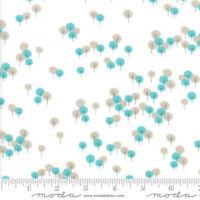 WOODLAND SECRETS Moda quilting fabric 3yds Aqua Flax TREES Shannon Orr 45523-11