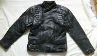 Akito Leather Motorcycle Jacket Size EU 48 UK 38 Black Good Condition Bikers