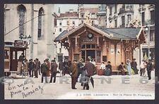 SVIZZERA SUISSE VD LOSANNA 05 Lausanne Cartolina viaggiata 1908