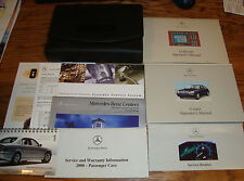 Original 2000 Mercedes Benz S Class Models Owners Operators Manual w/Case