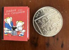 Miniature Babar & Children (1:12) Readable Brunhoff 48 page Dollhouse Mini Book