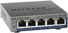NETGEAR GS105E-200UKS ProSAFE 5 Port Web Managed (Plus) Gigabit Etherne... - NEW