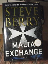 Steve Berry, The Malta Exchange, Signed, 1st Edition, 1st Printing Like New