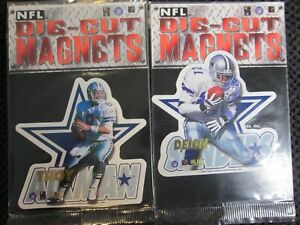 1996 NFL Die-Cut Magnet Cowboys HOFers Troy Aikman Deion Sanders