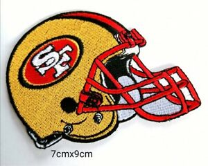 San Francisco 49ers Logo Helmet Embroidered Patch,Iron,Sewing on Clothes