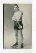 Vintage Postcard JOE BURMAN Chicigo Chicago? Featherweight Boxer