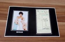 Joan Collins * Denver Clan *, Original Signed Collage Photo 20x30 (8x12)