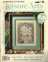 VTG Counted Cross Stitch Leisure Arts The Magazine 22 Projects June 1991
