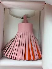 BNIB! Hermes Carmen Keychain Pom Tricolor Rose Sakura/Feu/Bougainvillier! RARE!