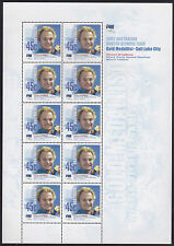 2002 Salt Lake City Winter Olympic Games (Steven Bradbury) - MUH Sheetlet of 10