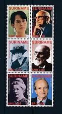 [SU1386] Suriname Surinam 2006 Nobel price winners Aung San Suu Kyi  MNH