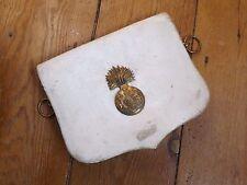 Vintage Pre WW2 Buff Leather Cross Belt Pouch - Royal Scots Fusiliers