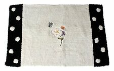 Saturday Knight Marche Aux Fleurs Bath Rug Mat Floral Shabby Chic Polka Dot