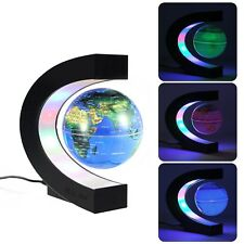 MECO 3'' Magnetic Floating Globe with Colored LED Light World Map Globe for E...