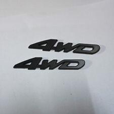 2x 4WD High Black Matte Metal Badge Sticker Emblem Sport Engine Limited lander