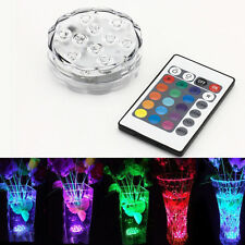 Vase Tank Reusable Submersible 10 LED Light RGB Waterproof + Remote Controller