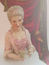"Superb Bisque 1920's Style ""Madame De Pompadour & Fan"" ~ Half Pin Cushion Doll"