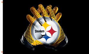 Pittsburgh Steeler Gloves team Memorable flag 90x150cm3x5ft Football best banner