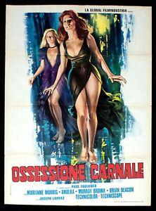 OSSESSIONE CARNALE poster manifesto Marianne Morris Vampyres Horror Erotico E22