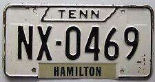 Tennessee 1960's HAMILTON COUNTY License Plate # NX-0469