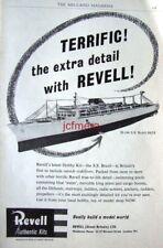 1960 REVELL Model Ship Kit AD 'S.S. Brasil' - Original Print ADVERT