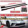 "86.6"" Red Line Side Skirts Rocker Panel Extension For VW Golf MK6 MK7 POLO Jetta"