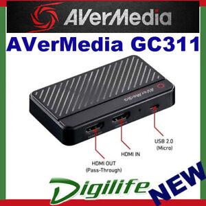 AVerMedia GC311 Live Gamer MINI for Full HD Gameplay Micro USB for PC or Mac