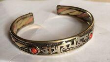 White Metal Buddhist Bracelet