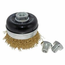 Josco WIRE WHEEL TYRE CORD BRUSH WITH SKIRT 75mm Removes Paint*Australian Brand