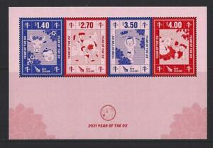 NEW ZEALAND 2020 YEAR OF THE OX 2021 MINIATURE SHEET UNMOUNTED MINT