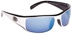 StrikeKing S11 Okeechobee Sunglasses White-Blk Frame/White-Blue Mirror Gray