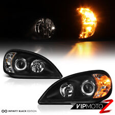 1998-2001 Mercedes Benz W163 ML320 ML430 Black Headlights Headlamp Assembly PAIR