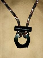 Fire Starter Necklace Survival Gear Flint and Steel Kit Reflective Paracord