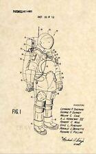 Official NASA Apollo Space Suit Patent Art Print- Vintage Buzz Aldrin Neil 405