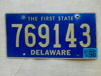 American number licence plate Delaware vintage old car genuine USA