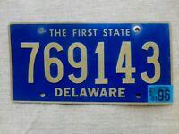 American number licence plate Delaware vintage old car genuine USA