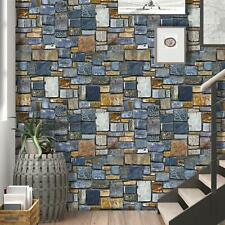 Colorful Blue Stone Peel and Stick Wallpaper Contact Paper Film Self-Adhesive 3D