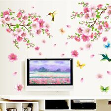 Large Cherry Blossom Flower Butterfly Tree Wall Stickers Art Decal NEW Decor