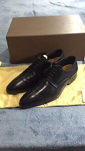 LOUIS VUITTON Men's Dress Shoes Size 7 Black Suit Leather