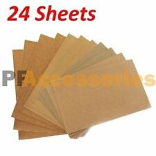 24 Sheets Wet Dry Assorted Grits Sandpaper Sanding Paper 9 X 11 Inch Wood Paint
