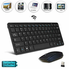 Black Wireless Keyboard & Mouse for Philips 50PUS6523/12 50-Inch