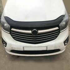 FIAT TALENTO 2016> ABS GLOSS BLACK BONNET DEFLECTOR PROTECTOR NOT BONNET BRA