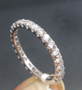 DEAL! 1.05CTW  NATURAL ROUND DIAMOND LADIES ETERNITY WEDDING BAND RING 14K GOLD.