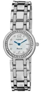 Akribos XXIV AK513SS Crystal Bezel Diamond Markers Swiss Quartz Womens Watch