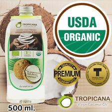 Tropicana ORGANIC Coconut Oil Pure Virgin for Face Skin Hair Unrefined 500 ml.
